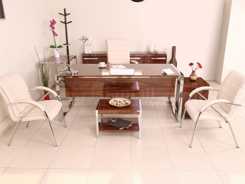 Apple Istanbul Office Desk Executive Office Hg. Walnut