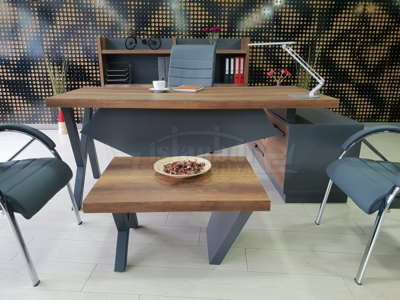 Istanbul Office Manager Table Elegant - Baroque Anthracite