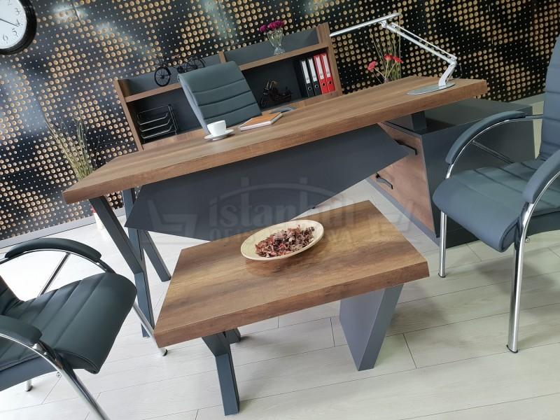 Elegant Executive Board Shelf Cabinet Baroque Anthracite