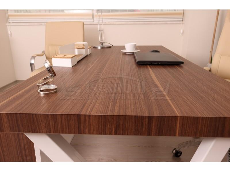 Canberra Executive Board dresser walnut White