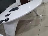 White Lacquer Executive Office Desk