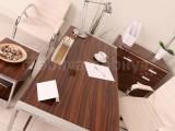 Istanbul Office Desk Staff Team High Gloss Walnut